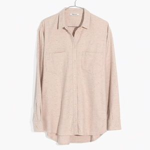 【NWT】Madewell Flannel Sunday Shirt in Speckle